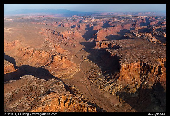 Aerial view of Taylor Canyon. Canyonlands National Park (color)