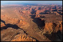 Aerial view of Taylor Canyon. Canyonlands National Park, Utah, USA. (color)