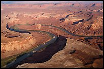 Aerial view of Green River. Canyonlands National Park, Utah, USA. (color)