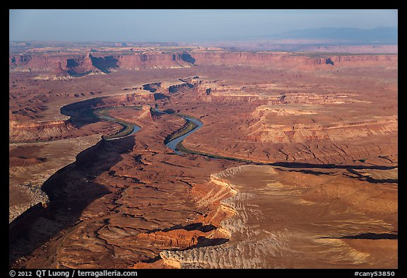Aerial view of Green River Canyon. Canyonlands National Park (color)