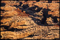 Aerial view of Chocolate Drops. Canyonlands National Park, Utah, USA. (color)