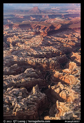 Aerial view of Maze and Elaterite Butte. Canyonlands National Park (color)