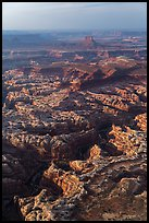 Aerial view of Maze District. Canyonlands National Park, Utah, USA. (color)