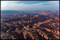 Aerial view of Maze area. Canyonlands National Park, Utah, USA. (color)
