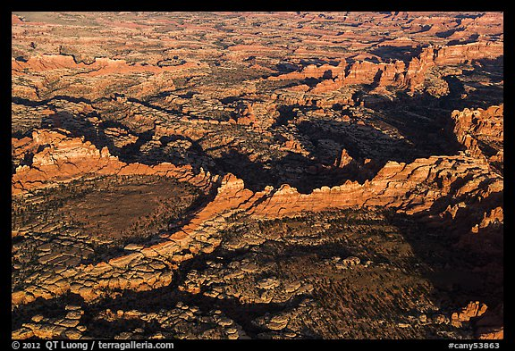 Aerial view of Needles. Canyonlands National Park (color)
