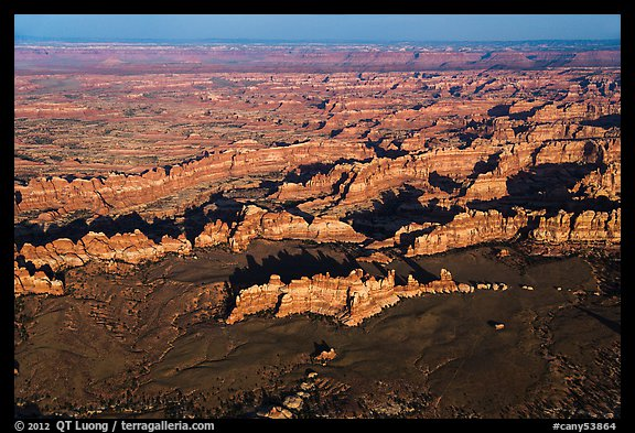 Aerial view of Chesler Park. Canyonlands National Park (color)