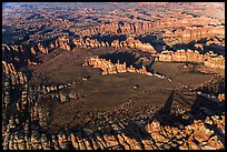 Aerial view of Chesler Park and Needles. Canyonlands National Park, Utah, USA. (color)