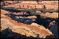 Aerial view of Castle Arch. Canyonlands National Park, Utah, USA. (color)
