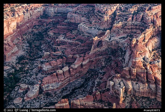 Aerial view of Angel Arch. Canyonlands National Park (color)
