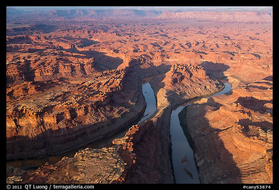 Aerial view of the Loop. Canyonlands National Park (color)