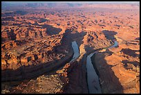 Aerial view of the Loop. Canyonlands National Park, Utah, USA. (color)