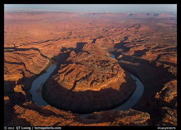 Aerial view of the Loop goosenecks. Canyonlands National Park (color)