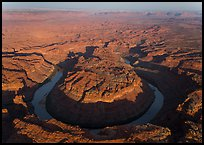 Aerial view of the Loop goosenecks. Canyonlands National Park, Utah, USA. (color)