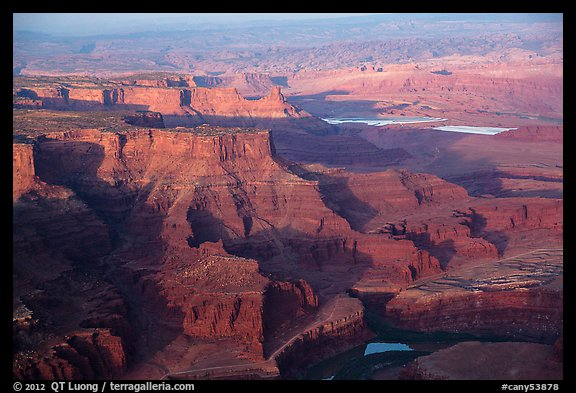 Aerial view of Dead Horse Point. Canyonlands National Park (color)