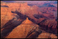 Aerial view of buttes and Dead Horse Point. Canyonlands National Park, Utah, USA. (color)