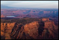 Aerial view of Dead Horse Point State Park. Canyonlands National Park ( color)