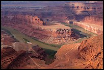 Colorado River gooseneck and Potash Road. Canyonlands National Park ( color)