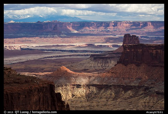 View over White Rim from High Spur. Canyonlands National Park (color)