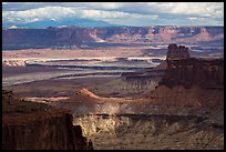 View over White Rim from High Spur. Canyonlands National Park, Utah, USA. (color)