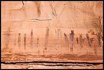 Harvest Scene pictograph panel. Canyonlands National Park, Utah, USA. (color)