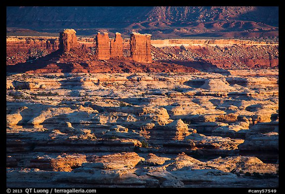 Chocolate drops and Maze canyons, early morning. Canyonlands National Park (color)