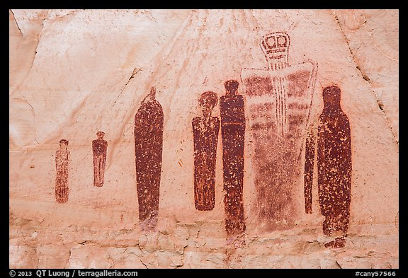 Holy Ghost panel in the Great Gallery, Horseshoe Canyon. Canyonlands National Park (color)
