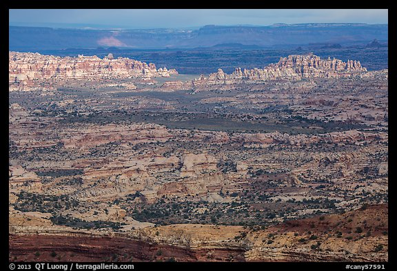 Maze District seen from Orange Cliffs. Canyonlands National Park (color)