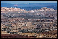Maze District seen from Orange Cliffs. Canyonlands National Park ( color)