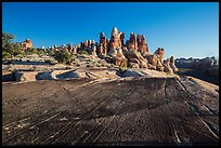 Rock slab and Dollhouse spires. Canyonlands National Park ( color)