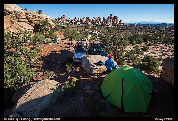 Jeep camp at the Dollhouse. Canyonlands National Park (color)