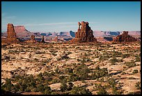 Land of Standing rocks, Maze District. Canyonlands National Park, Utah, USA. (color)