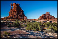 The Eternal Flame, late afternoon, land of Standing rocks. Canyonlands National Park ( color)