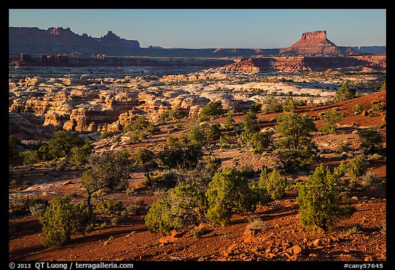 Maze seen from Chimney Rock, late afternoon. Canyonlands National Park (color)