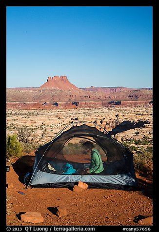 Camp overlooking the Maze. Canyonlands National Park (color)