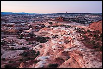 Jasper Canyon from Petes Mesa at dawn, Maze District. Canyonlands National Park ( color)