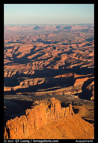 Aerial View of Under the Ledge country. Canyonlands National Park (color)