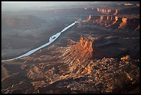 Aerial View of Cliffs and Green River. Canyonlands National Park, Utah, USA. (color)