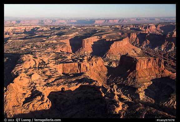 Aerial View of mesas, Island in the Sky district. Canyonlands National Park (color)