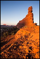 Bishops Member at sunset, Maze District. Canyonlands National Park ( color)