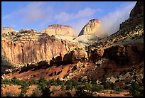 Golden Throne and Waterpocket Fold. Capitol Reef National Park, Utah, USA.