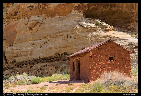 Behunin Cabin. Capitol Reef National Park (color)