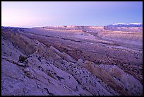 Tilted rock layers, Waterpocket Fold, sunset. Capitol Reef National Park, Utah, USA.