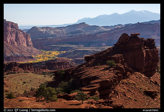 Morning from Sunset Point. Capitol Reef National Park (color)