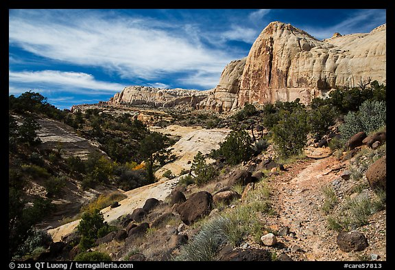 Trail and Navajo Dome. Capitol Reef National Park (color)