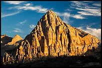 Pectol Pyramid, late afternoon. Capitol Reef National Park, Utah, USA. (color)