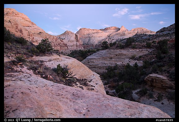 Fremont River Canyon at dusk. Capitol Reef National Park (color)