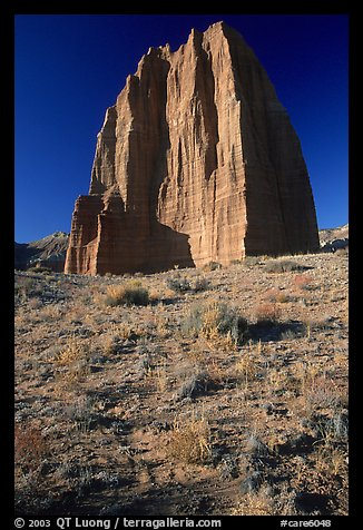 Temple of the Moon, Cathedral Valley, morning. Capitol Reef National Park (color)