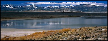 Pond and Snake range. Great Basin National Park (Panoramic color)