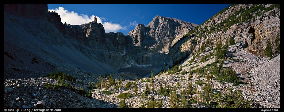 Rocky cirque and Wheeler Peak. Great Basin  National Park (color)