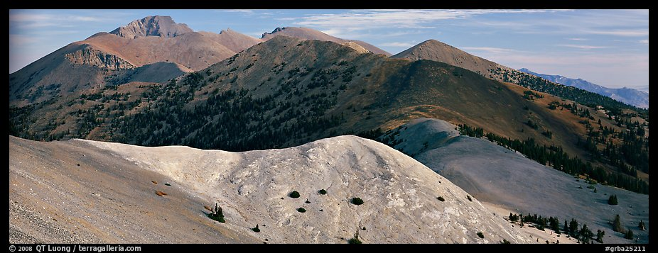 Snake Range ridge top. Great Basin  National Park (color)